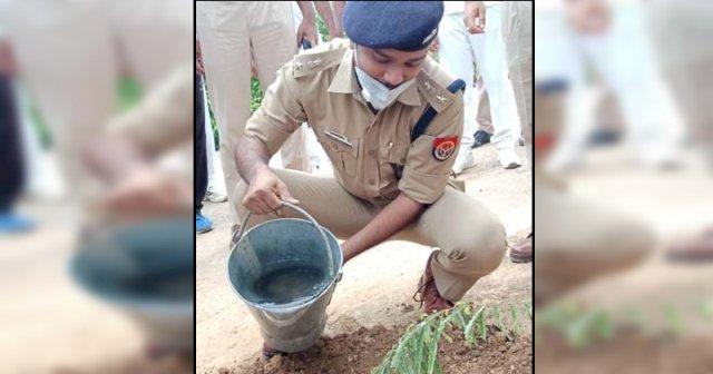 पुलिस लाइन में मनाया गया वृक्षारोपण महाअभियान