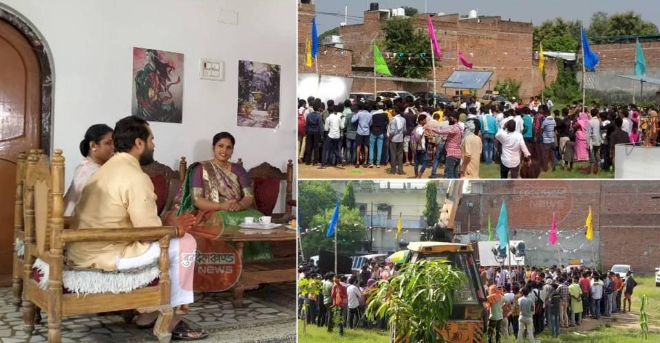 बाँदा : डीएम कॉलोनी में भी हुई भोजपुरी फिल्म लिट्टी चोखा की शूटिंग