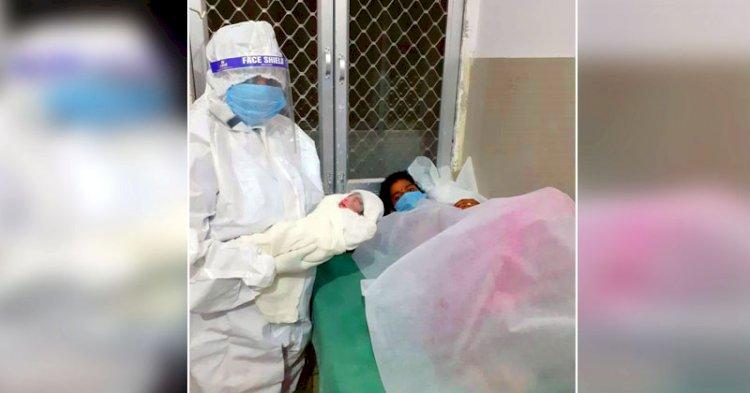महोबा में पहली कोरोना ग्रसित महिला का सुरक्षित प्रसव हुआ,स्वस्थ नवजात जन्म