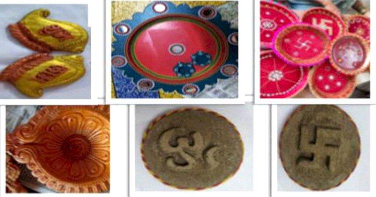 सागर : महिला समूहों द्वारा गोबर का बेहतर उपयोग, तैयार की दीपावली पूजन सामग्री किट