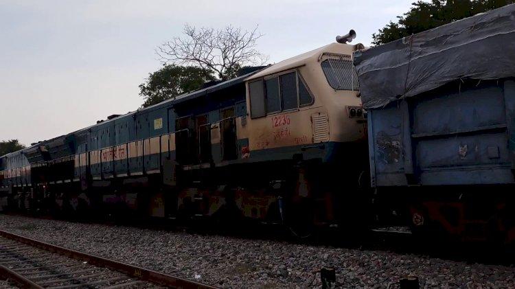जबलपुर से कानपुर आ रही मालगाड़ी भीमसेन में हुई डिरेल, कानपुर-झांसी रेल मार्ग बाधित