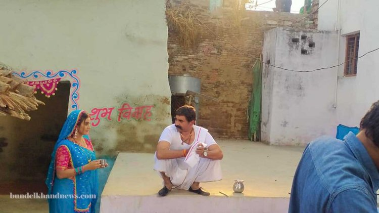 sabka baap anguthachhap bhojpuri film shoot in banda, bhojpuri cinema