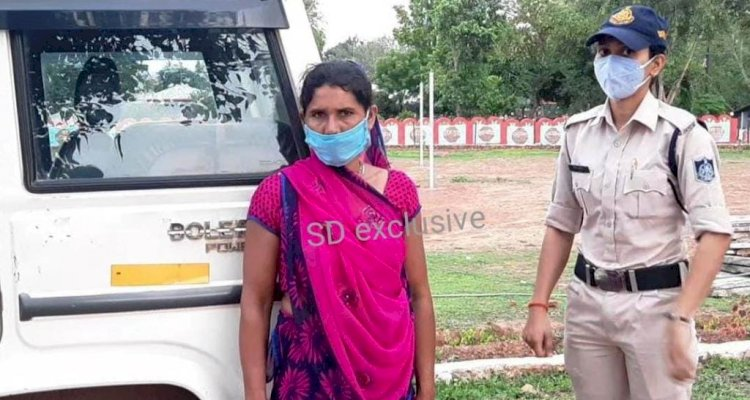 चित्रकूट : डेढ़ लाख के इनामी दस्यु गौरी यादव की महिला मददगार अवैध असलहे समेत गिरफ्तार