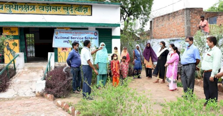 कृषि विश्वविद्यालय द्वारा गांव में कोविड-19 टीकाकरण जागरूकता अभियान