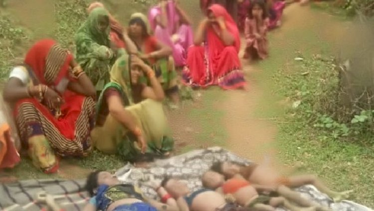 टीकमगढ़ : 16 घंटे बाद खेत के कुएं में मिले घर से लापता महिला और तीन बच्चों के शव