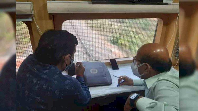 drm jhansi railway doubling jhansi manikpur mahoba, rail electrification work