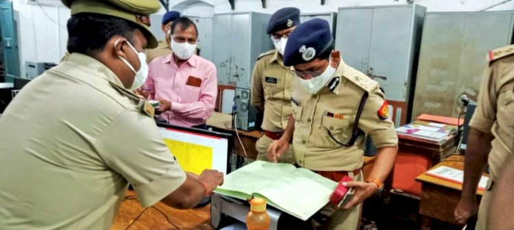 आईजी ने एसपी कार्यालय व थाना चिल्ला का निरीक्षण कर, पुलिस टीम को नगद पुरस्कृत किया