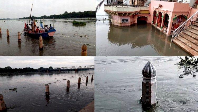 लगातार बढ़ रहा है यमुना का जलस्तर, किनारे बसे लोगों में खलबली, सिंचाई विभाग की टीमें अलर्ट