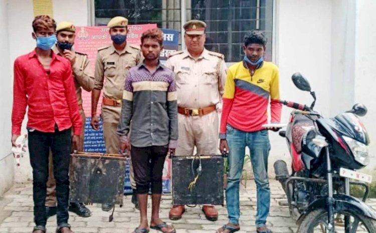 चित्रकूट : चोरी की घटना का 24 घंटे में खुलासा कर तीन चोरों को तमंचा व कारतूस समेत दबोचा