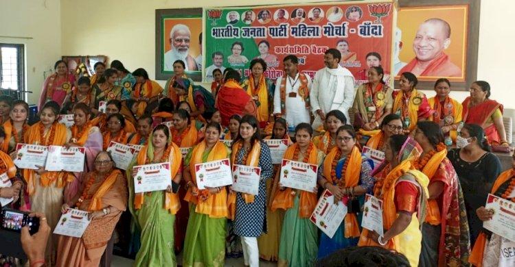 सेवा समर्पण अभियान के अंतर्गत, भाजपा द्वारा 71 महिला कोरोना योद्धाओं का सम्मान